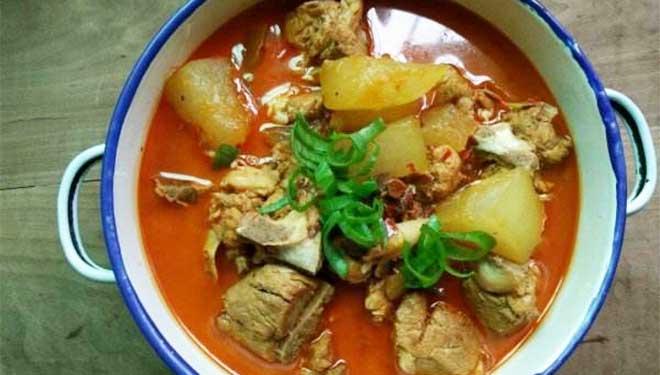 冬瓜西红柿煨排骨 减肥健美人士最佳饮食