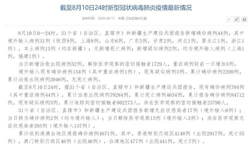 8月10日新增确诊病例44例 其中本土病例13例