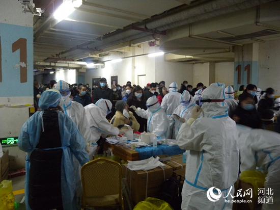 直击现场:河北石家庄6日凌晨开始全员核酸检测